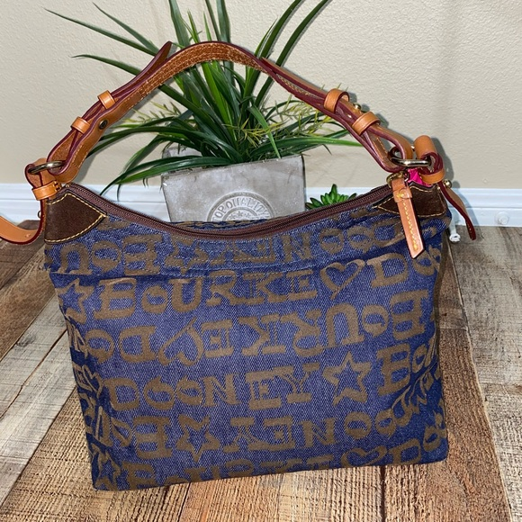 Dooney & Bourke Blue Brown shoulder bag